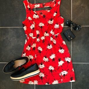 Urban Outfitters mini floral dress w/ cutout back
